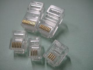 Conector rj9 macho,modular jacks e plugs headset conector rj9, straight transparent - 2 ou 4vias